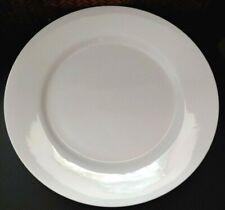 """CRATE & BARREL WHITE DINNER PLATE(S) 11 1/4"""" SRI LANKA"""