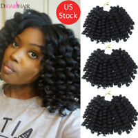 """8"""" Synthetic Jumpy Wand Curl Crochet Twist Afro Braids Hair Extensions US STOCK"""