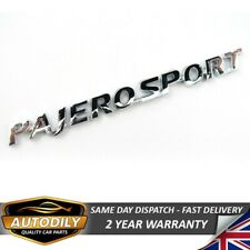 Mitsubishi Pajero Sport Badge Chrome Rear Tailgate Boot Wing Door Trunk 180x16mm