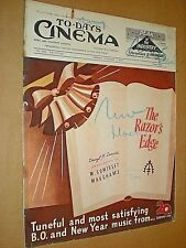 TO-DAY'S CINEMA NEWS & PROPERTY GAZETTE. MOVIE FILM TRADE MAGAZINE JAN 3rd 1947