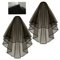 Black Halloween Polymer Bride Veil for Gothic fancy Hen Nights Dress Costume