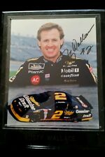 RUSTY WALLACE AUTOGRAPHED 8 x 10 PHOTO ON A PLAQUE W/C.O.A.