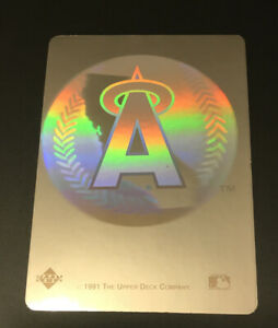 1991 HOLOGRAM TEAM LOGO L.A. ANGELS BASEBALL STICKER