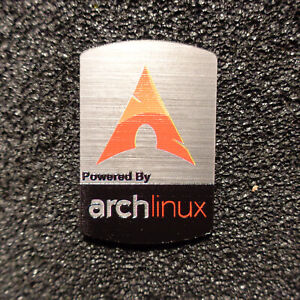 Arch Linux Red Logo Label Decal Case Sticker Badge [487]