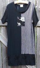 NATURALLY PETITE Honolulu SZ 12 DRESS (See Measurements) BLACK/ WHITE VERY CUTE!