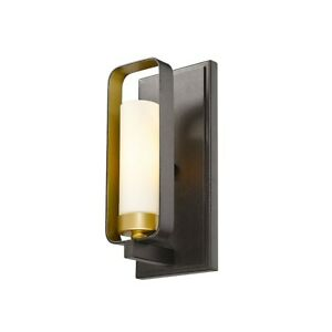 Z-Lite Aideen 1 Light Wall Sconce, Bronze Gold, Matte Opal - 6000-1S-BZGD