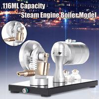 116ML Mini Single Cylinder Steam Engine Boiler Motor Model Educational   i