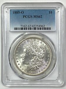 1885-O Morgan Silver Dollar - PCGS MS 62 - BLAST WHITE