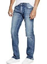 Guess Men's Slim Straight Jeans With Frayed Cuffs Size 30