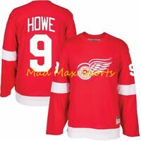 GORDIE HOWE Detroit RED WINGS Throwback HEROES of HOCKEY Vintage Jersey Sz S-XXL