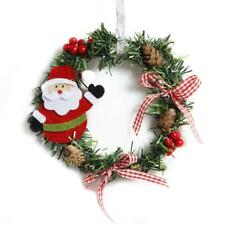 Christmas Decor Santa Claus Wreath Garland Wall Door Hanging Ornament Pendant