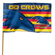Adelaide Crows AFL GAME DAY Flag Banner WITH Pole Fathers Day Man Cave Gift