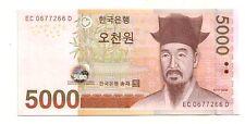 South Korea Corea del sud 5000 won 2006     FDS UNC     Pick 55     Lotto 3859
