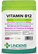 Vitamin B12 1000mcg sublingual tablets (100 pack) [Lindens 0380]