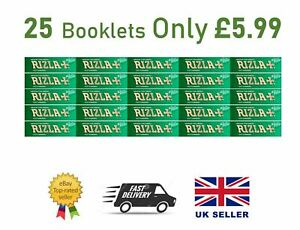 25x RIZLA GREEN REGULAR ROLLING PAPERS ORIGINAL 25 BOOKLETS SMOKING RIZZLA