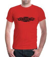 Herren Unisex Kurzarm T-Shirt ICH BIN SCHULD lustige Sprüche Geschenk schuldig