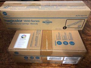 A0V30NH + A0V301H Konica Minolta 4 Toner magicolor 1600W 1650 1680 1690MF NEU