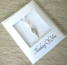 THINKING OF YOU Handmade Card + Gift | Sympathy Bereavement Get Well ANGEL Wing