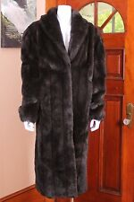 Olympia Faux Fur Long Pelted MInk Coat Made in USA Large