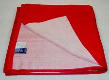"Red Cotton Bath Wrap / Sauna Towel / Tanning Blanket ~ 30"" x 60"" ~ #Y850"