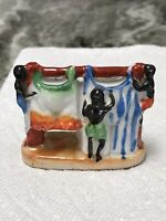 "Vintage Black Americana Made In Japan Laundry Line Figurine Approx 2-1/2"" Tall"