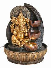 Zimmerbrunnen Ganesha mit Beleuchtung Brunnen Indoor Figur Statue Hinduismus
