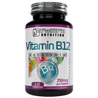 Vitamin B12 120 Tabletten je 250mcg  Fat2Fit Nutrition Cobalamin