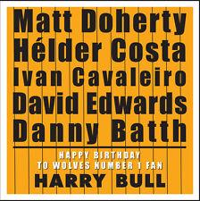 Lupi-Personalizzato Compleanno Card-Tipografia