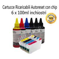 4 Cartucce Ricaricabili Compatibile per Epson XP-305 XP-402 XP-102 + inchiostri