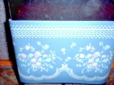 WALL PAPER BORDER, COTTAGE BLUE, OLD-FASHIONED PRINT, LOT OF 5, NIP
