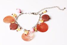 """Verano chic brown/pink encantos pulsera Funky shells/nacre """"Lunas » (zx16)"""