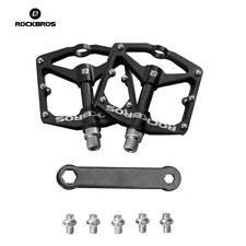RockBros Bicycle Pedals Road Bike MTB Carbon Fiber Sealed Bearings Pedals Black