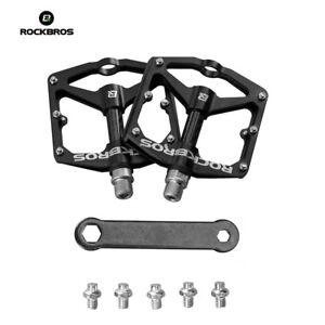 RockBros Bicycle Pedals Road Bike MTB Carbon Fiber Sealed Bearings Pedals Black