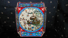 "Winter Scene Christmas Cardboard Bowls 1981 ""Stages Of Winter"" Bill Dodge Repro"