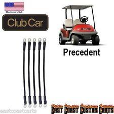 Club Car Precedent Golf Cart 8 volt Batteries # 4 Gauge Battery Cable Kit (5)