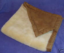 CHILDRENS PLACE FAUX SUEDE BABY BLANKET CHOCOLATE 29X28