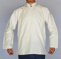 TRADITIONAL TIBETAN SHIRT FOR MEN OR WOMEN COTTON WHITE