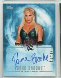 Dana Brooke 2017 Topps WWE Undisputed Autograph Auto /199