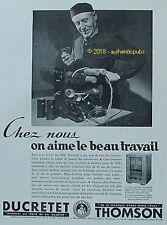 PUBLICITE DUCRETET THOMSON RADIO RECEPTEUR C 55 DE 1935 FRENCH AD PUB RARE
