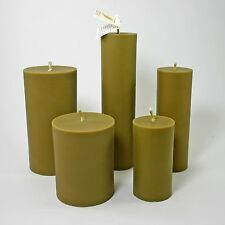 Hand-Poured All Natural Pure Bayberry Wax Traditional Unscented Pillar Candle