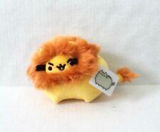 "Gund Pusheen Pusheenimal Lion Plush 5"" Stuffed Animal Backpack Clip Yellow"