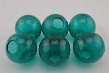 """6 PCS TURQUOSIE DECORATIVE REPRODUCTION BLOWN GLASS FLOAT FISHING BUOY BALL 3"""""""