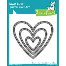 Lawn Fawn Die - Stitched Heart Stackables