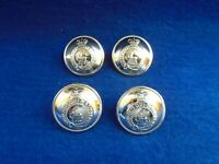 6 X QUEENS REGIMENT ANODISED STAYBRITE GOLD 26MM BUTTONS