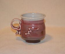 Martin Studio Art Pottery Mug Signed Red and White EUC