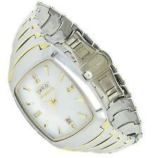 Luxus Tungsten Wolfram Herren Armband Uhr Datum CZ Diamant Jakobsburg Tag GOLD W