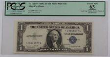 1935G One Dollar $1 Silver Certificate FR# 1617 *Star* PCGS Choice New 63 App.