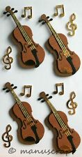 Artoz artwork 3d-sticker, instrumento musical violín