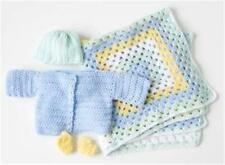 BABY  crochet pattern for nb jacket hat booties and blanket dk