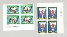 Benin 1980 Rotary 2v Imperf Corner Blocks of 4